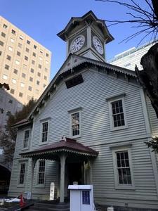 札幌の時計台を見てきました